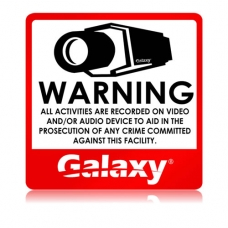CCTV Sticker Warning Sign